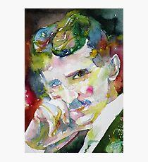 NIKOLA TESLA - watercolor portrait.9 Photographic Print