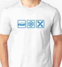 Mountains snow snowboard Unisex T-Shirt