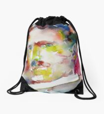 NIKOLA TESLA - watercolor portrait.10 Drawstring Bag
