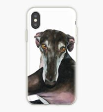 Vinilo o funda para iPhone Greyhound - Galgo Español Ana