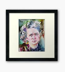 MARIE CURIE - watercolor portrait.2 Framed Print