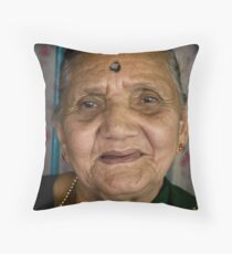 Satisfied Throw Pillow
