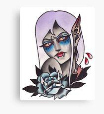 White Walker Fey Vampire  Canvas Print