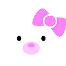 «Cachorro blanco en un lazo rosa» de EuGeniaArt