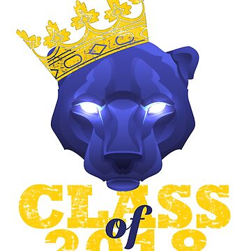 King of Wakanda Black Panther Class of 2018 Mascot for Graduating Seniors and Dora Milaje Fans by SunFunSpring