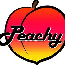 Peachy Colorful Cute Peach Typography by MyHandmadeSigns