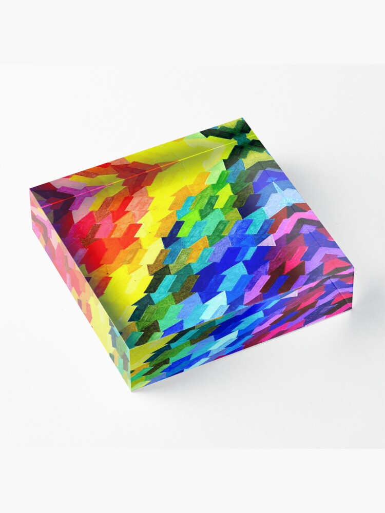 Alternate view of Being Gay Acrylic Block