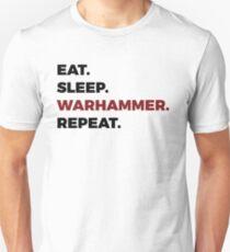 Camiseta unisex Eat Sleep Warhammer Repeat