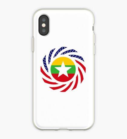 Myanmar American Multinational Patriot Flag Series iPhone Case