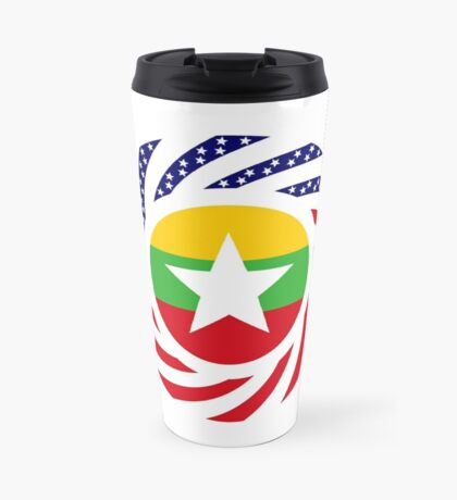 Myanmar American Multinational Patriot Flag Series Travel Mug