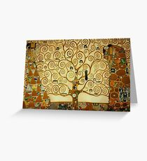 Gustav Klimt The Tree of Life Greeting Card