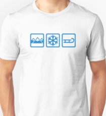 Mountains snow sleigh Unisex T-Shirt