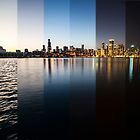 Slices of Chicago Skyline  by Sven Brogren