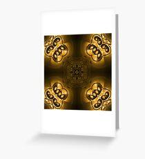 Gold abstraction Grußkarte