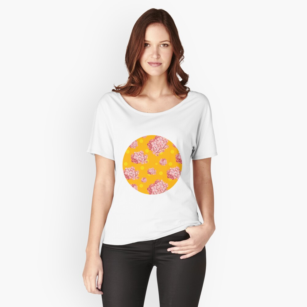 hydrangea polka Women's Relaxed Fit T-Shirt Front