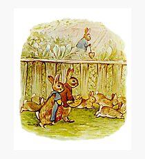 Benjamin and Flopsy Bunny. Beatrix Potter Photographic Print