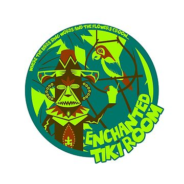 Enchanted Tiki Room (blue, green, red) by clockworkmonkey