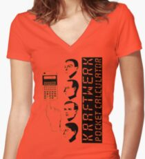 KRAFTWERK - POCKET CALCULATOR Women's Fitted V-Neck T-Shirt