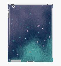 Lilac and Aqua Pixel Galaxy iPad Case/Skin