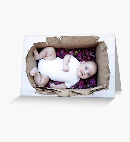 Babe in a box / Smiley Reilly Greeting Card