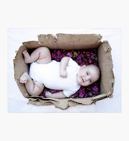 Babe in a box / Smiley Reilly Photographic Print