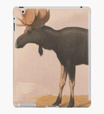 Vintage Illustration of a Moose (1874) iPad Case/Skin