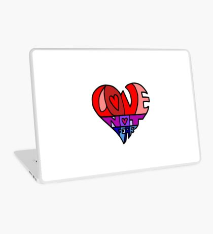 #LoveNotFear Laptop Skin