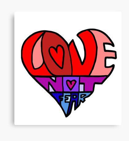 #LoveNotFear Canvas Print