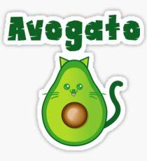 Avogato Addict shirt for avocato and catlover Avocat tee Sticker