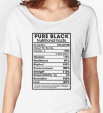 Pure Black - African American Pride Women's Relaxed Fit T-Shirt