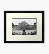 Mit Blick auf den Louvre. Gerahmtes Wandbild