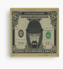 heisenberg dollars Canvas Print