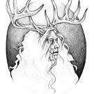 Silver Stag by hauntingbeauty