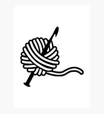 Crochet wool needle Photographic Print