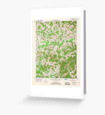 USGS TOPO Map Kentucky KY Blackwater 803342 1952 24000 Greeting Card