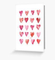 Hearts all over Grußkarte