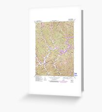 USGS TOPO Map Kentucky KY Blaine 708190 1953 24000 Greeting Card
