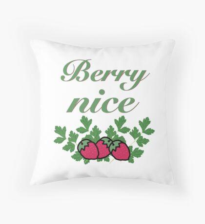 Berry Nice Throw Pillow