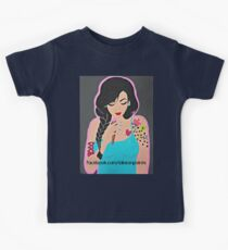 Lakeon Paints tattooed painter girl Kids Tee