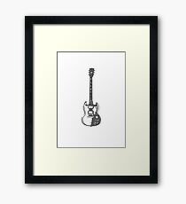 Guitar gibs Framed Print