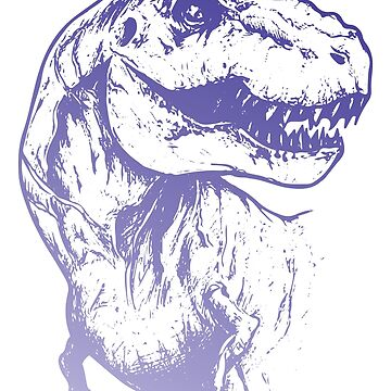 Purple Ombre Dinosaur by graphicloveshop