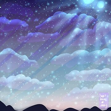 Mountains, Stars and 2 Moons by supernovajazzy
