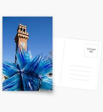 Murano Glass Blues Postcards