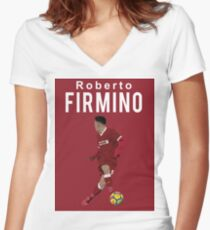 Roberto Firmino - Liverpool Women's Fitted V-Neck T-Shirt