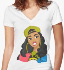 Cardi Women's Fitted V-Neck T-Shirt