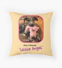 """Zeke is Mommy's Little Angel"" Throw Pillow"
