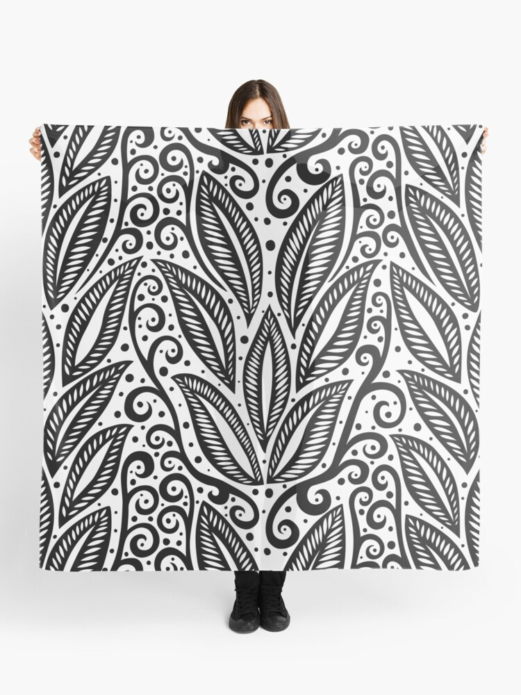 17eaaa873abef Black and white Polynesian floral tattoo design