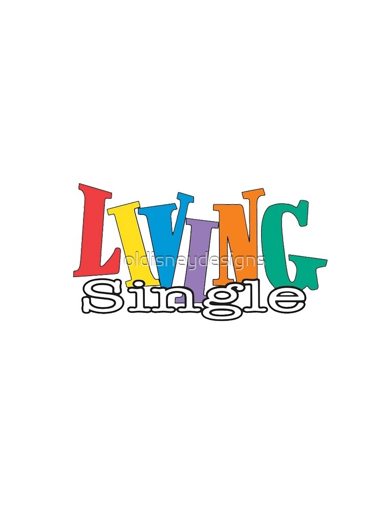 Living Single Logo Womens Chiffon Top By Oldisneydesigns