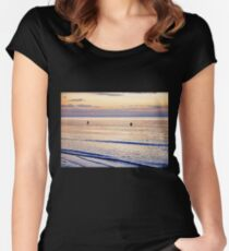 Sunset on the Horizon V Women's Fitted Scoop T-Shirt
