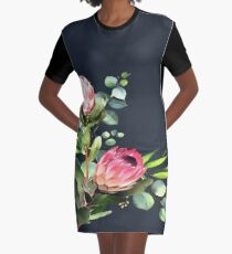 native bloem T-Shirt Kleid
